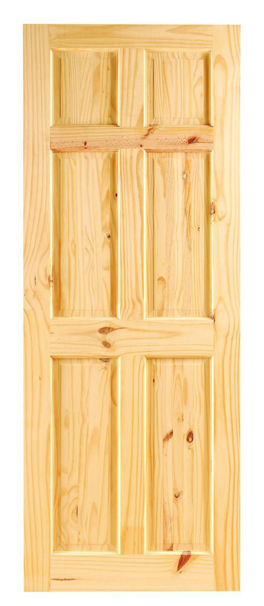 Imported Knotty Solid Pine Wooden Door