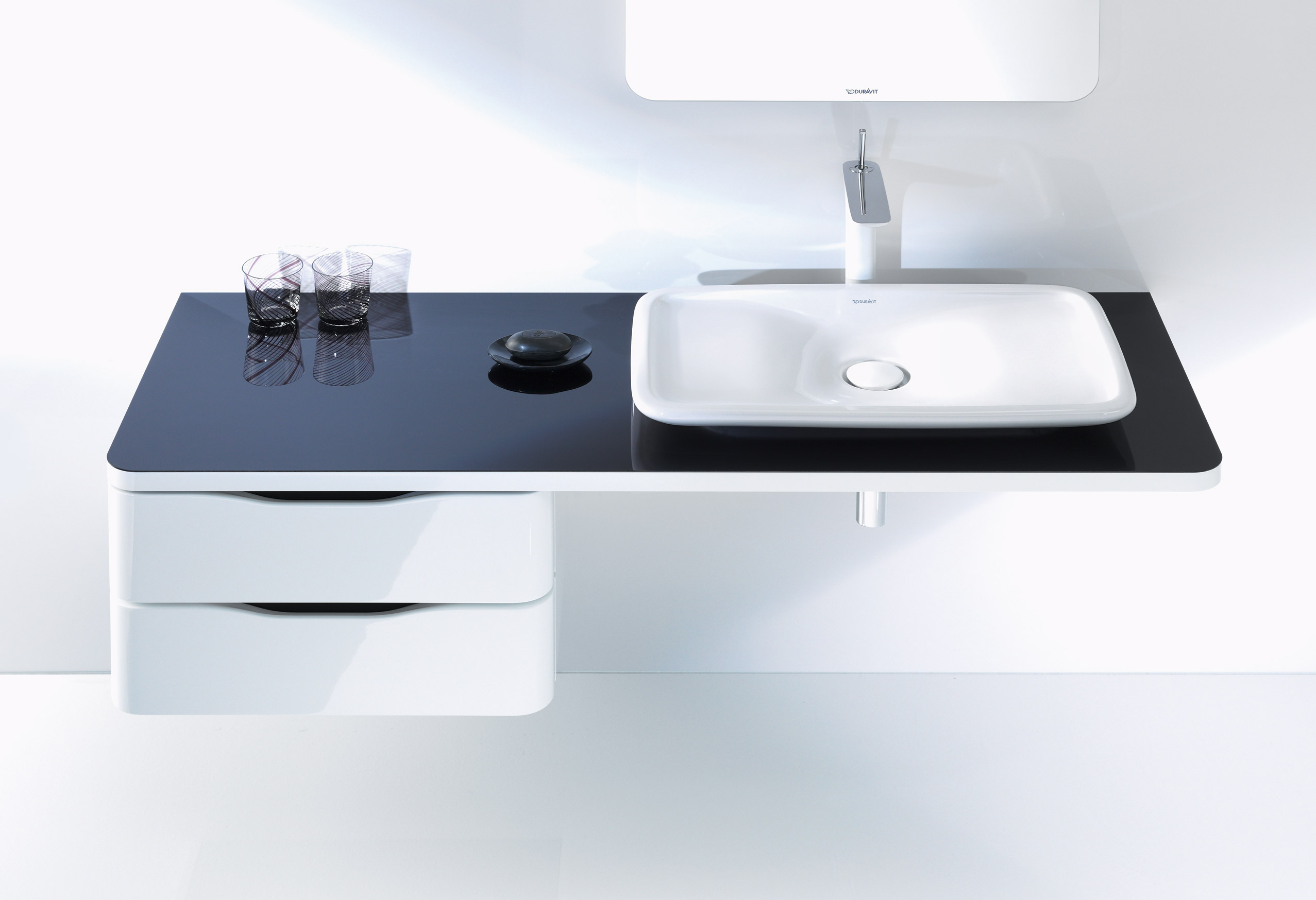 Duravit Low Cabinet Bathroom Vanity Console - PV9200 & Duravit Low Cabinet Bathroom Vanity Console - PV9200 - Bath and ...