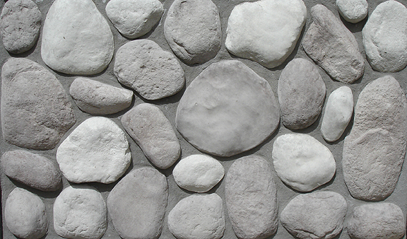 River Rock Wall Facing Slate Grey