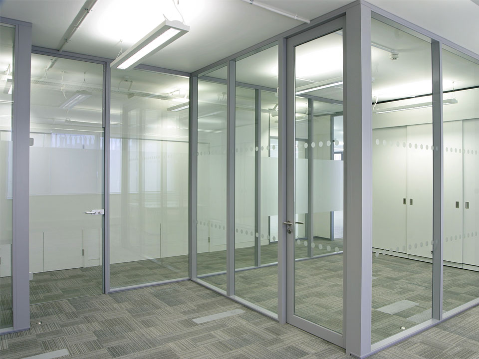 Office Partition With Door On Glass Office Partition Systems Galt Littlepage Ltd In Trinidad