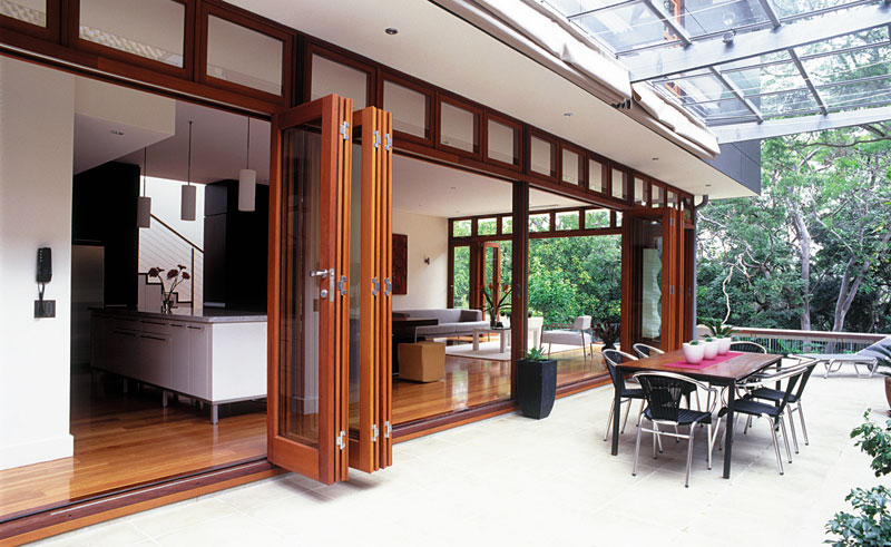 Wooden French Bi-Fold Doors - Unique Woodworking (Trinidad) Ltd. in ...