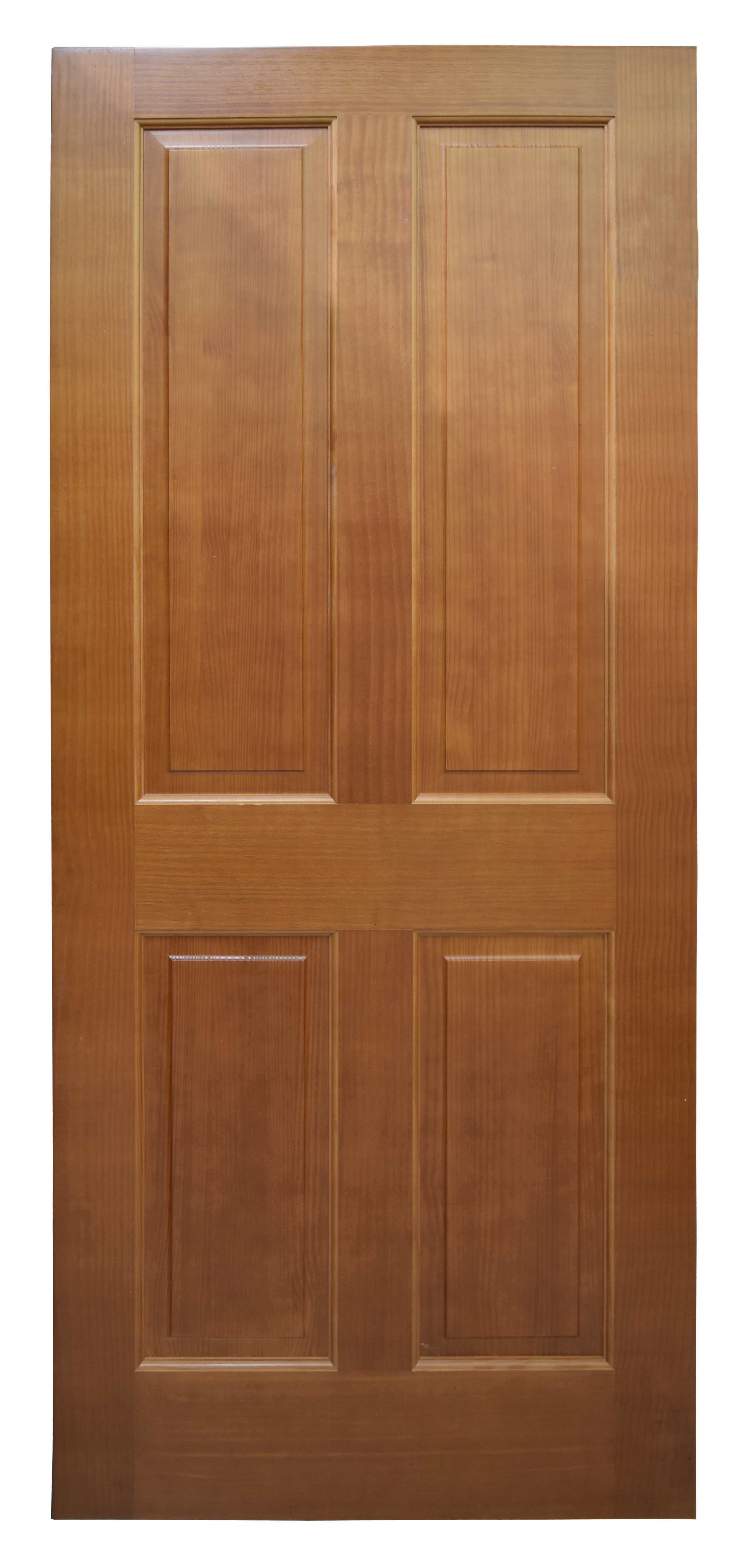 Meranti Colonial 4-Panel Wooden Door - 4MED - The Roopnarine ...