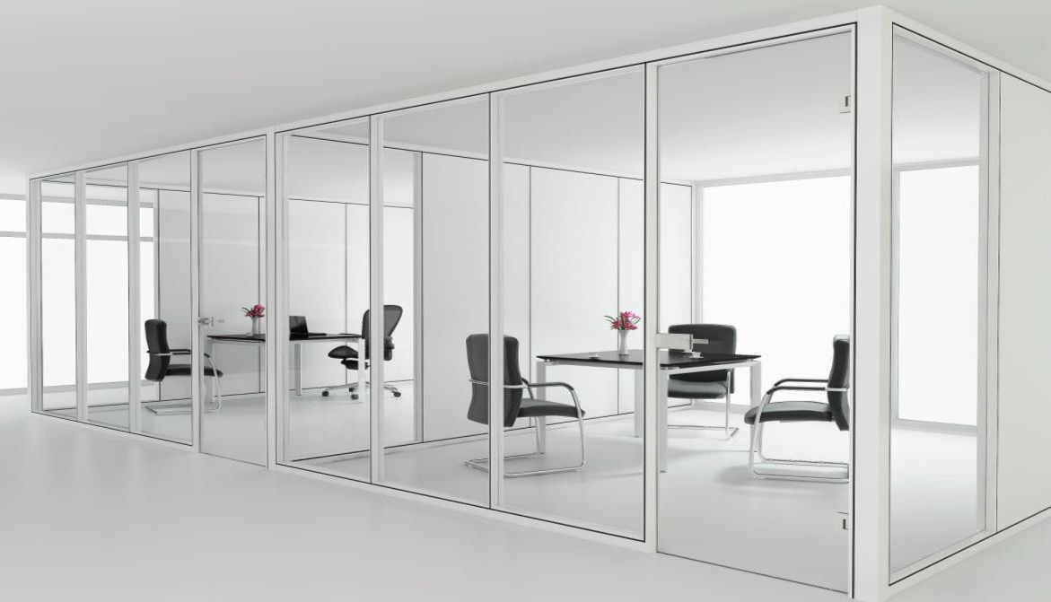 Modern Office High Partition Wall with Glass Aluminum Frame - COSL ...