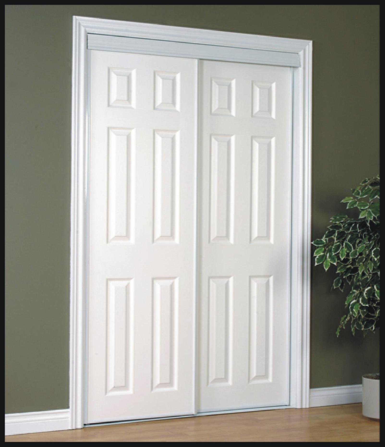 Moulded Colonial Sliding Closet Doors   2, 3 And 4 Panel