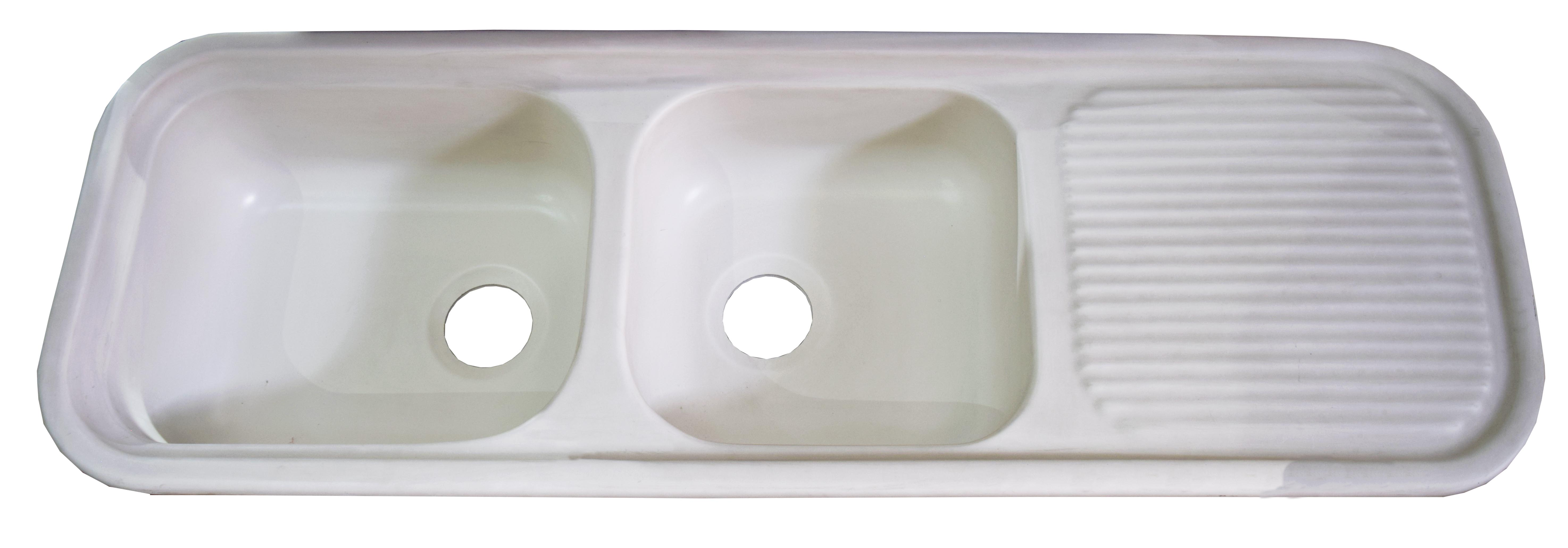 Double Bowl Plastic Kitchen Sink with Drainboard - The Roopnarine ...