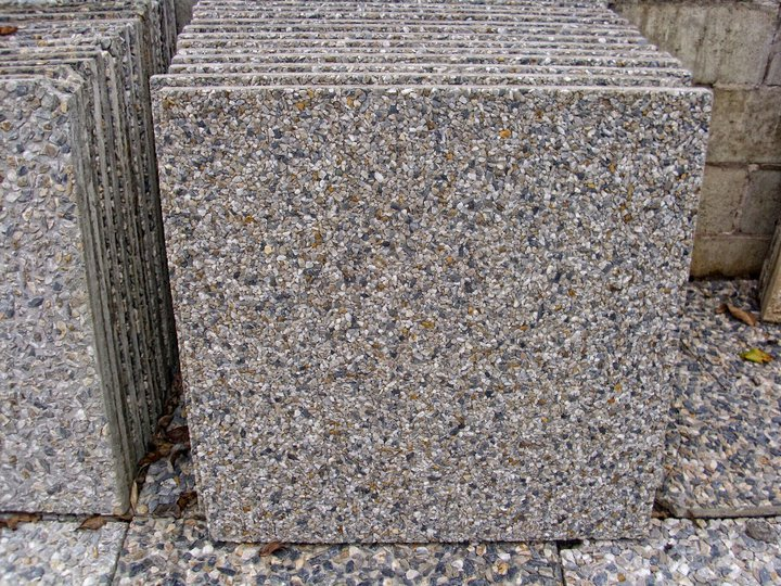 Exposed aggregate concrete tiles tile design ideas for Exposed concrete floor