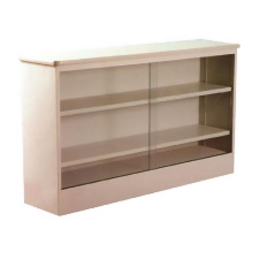 2 Shelf Metal Bookcases With Glass Sliding Doors Galt Littlepage