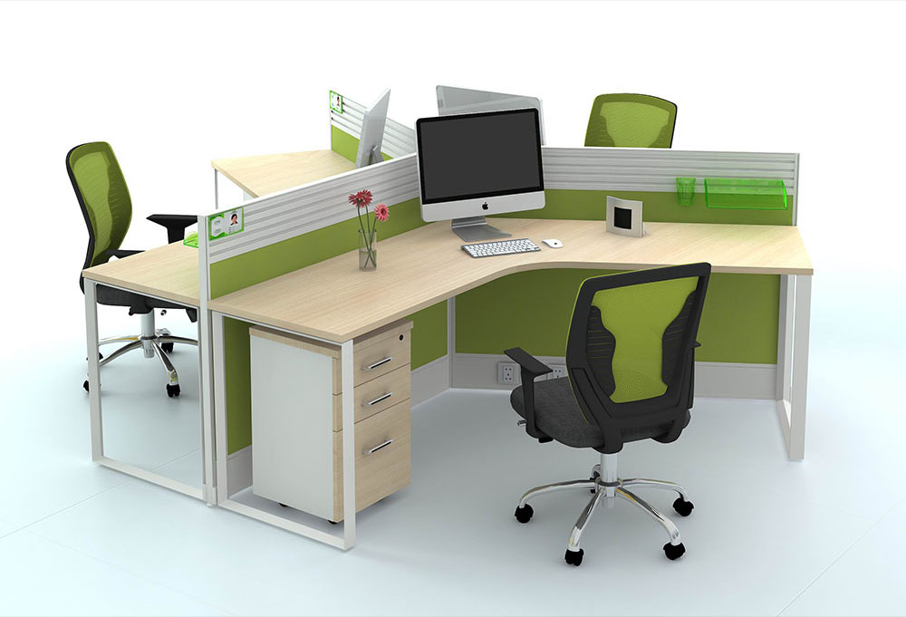 Stocked Systems System Furniture Office Desk Solutions 3 Person Cubicle