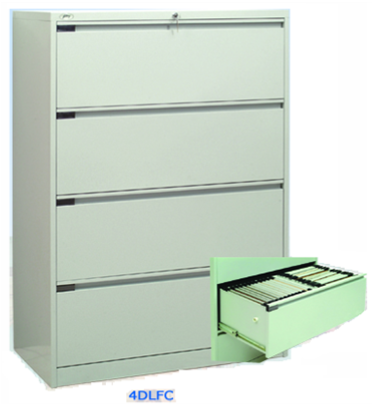 Metal Lateral 4 Drawer Filing Cabinet   D 4DLFC