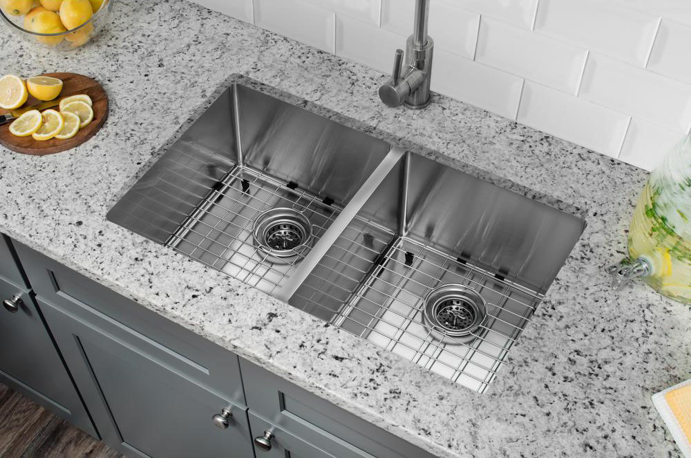 undermount double bowl stainless steel kitchen sink project