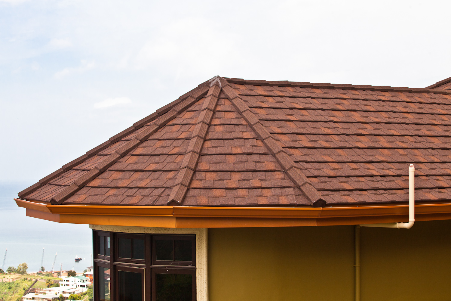 DECRA Roofing Systems Shingle Series Metal Roof Tile Project Stone Coated  Finish   Bark   Lifetime Solutions In Trinidad   The Building Source