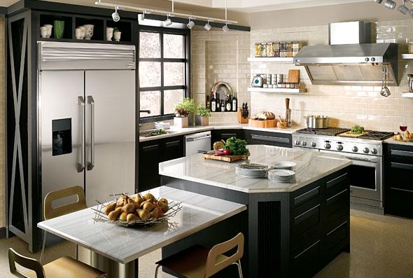 Ge monogram series kitchen appliances 1 global decor for Kitchen designs trinidad