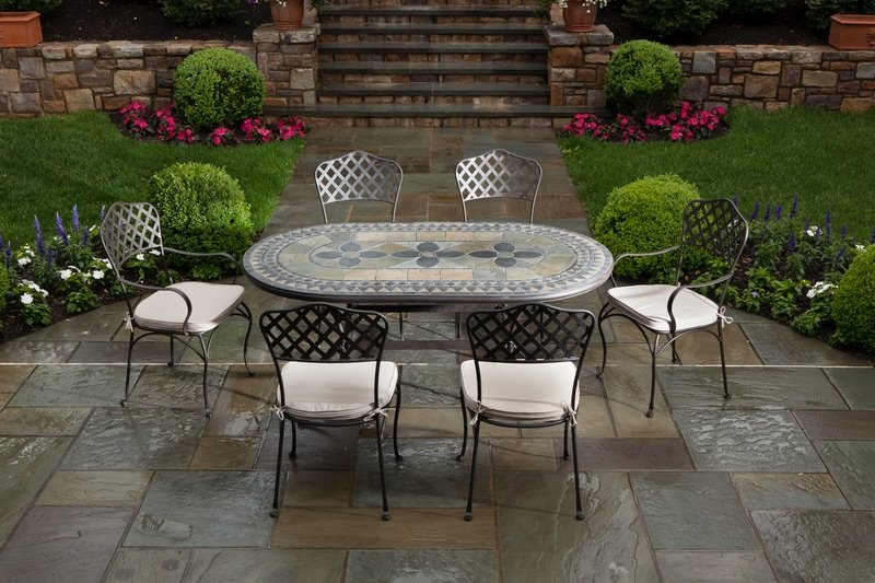 Mosaic Outdoor Patio Furniture Set Patio Perfect in Trinidad The Building