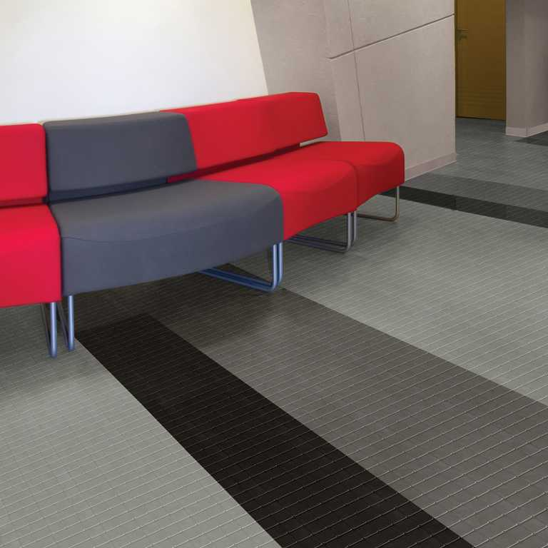 Flooring rubber tiles
