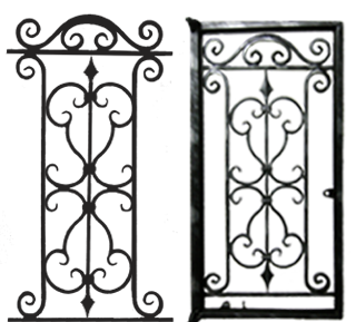 Wrought Iron Burglar Proofing For Windows Qwi 27